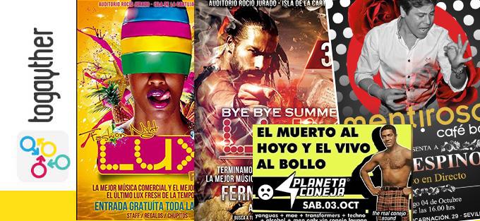 Photo of Plan gay para este fin de semana en Sevilla. 2, 3 y 4 de octubre de 2015