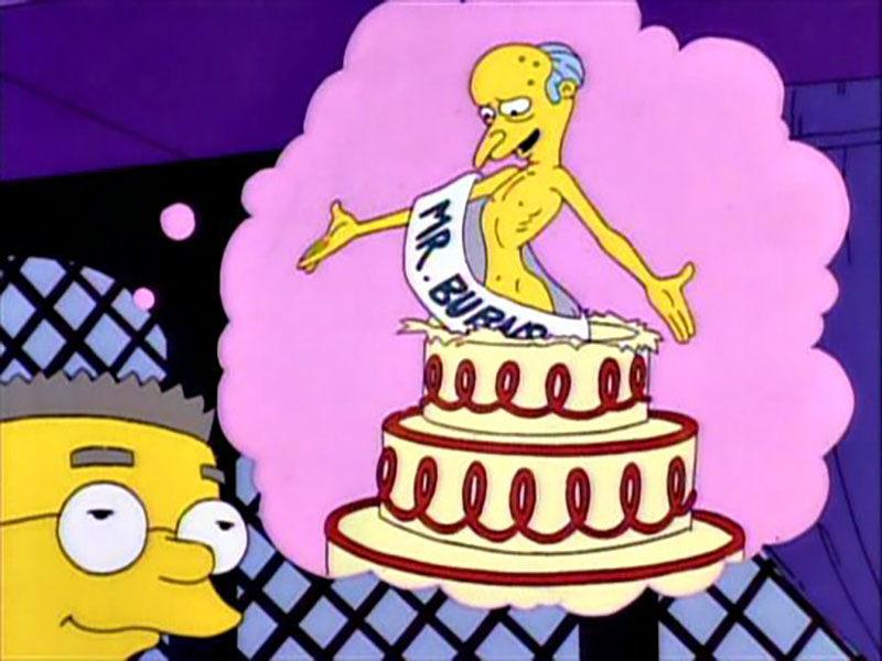 Sale del armario un personaje de Los Simpsons