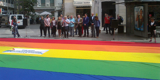 Acto contra la homofobia y la transfobia Málaga