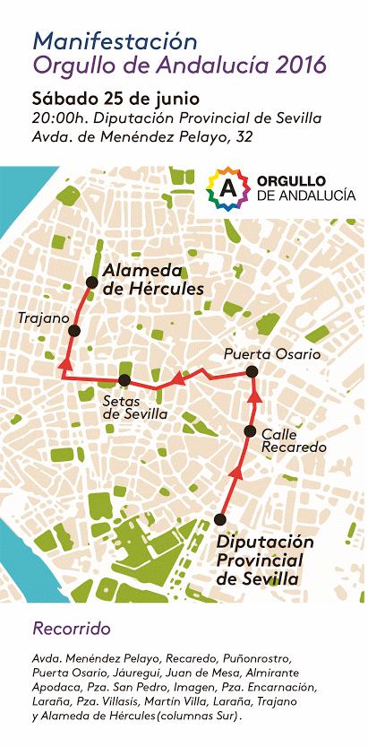 Recorrido de la Manifestación Gay Sevilla