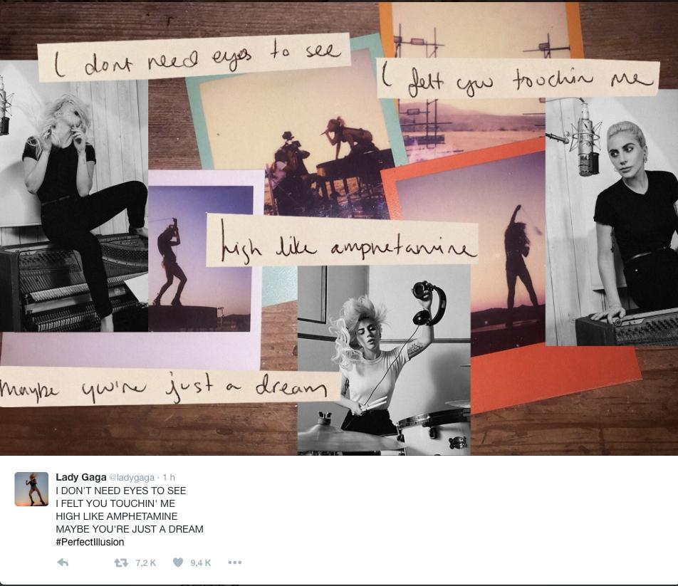 ¡Confirmado! Perfect Illusion se estrena el 9 de septiembre