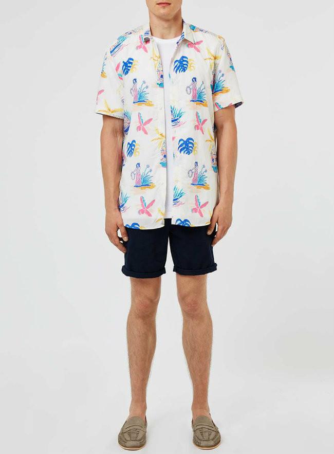 Camisas de Manga Corta con estampado hortera