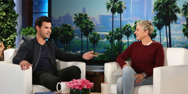 Photo of Taylor Lautner y sus abdominales visitan a Ellen DeGeneres