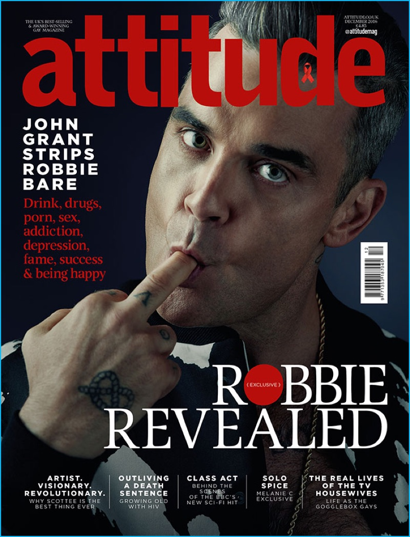 Robbie Williams desnudo en una revista gay