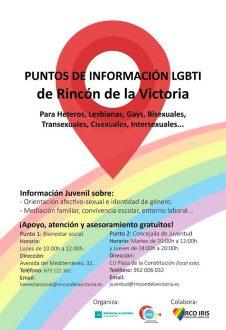 RINCÓN DE LA VICTORIA CREA 2 PUNTOS DE INFORMACIÓN PARA EL COLECTIVO LGBTI
