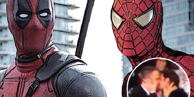 deadpool-y-spiderman-se-besan-en-los-globos-de-oro