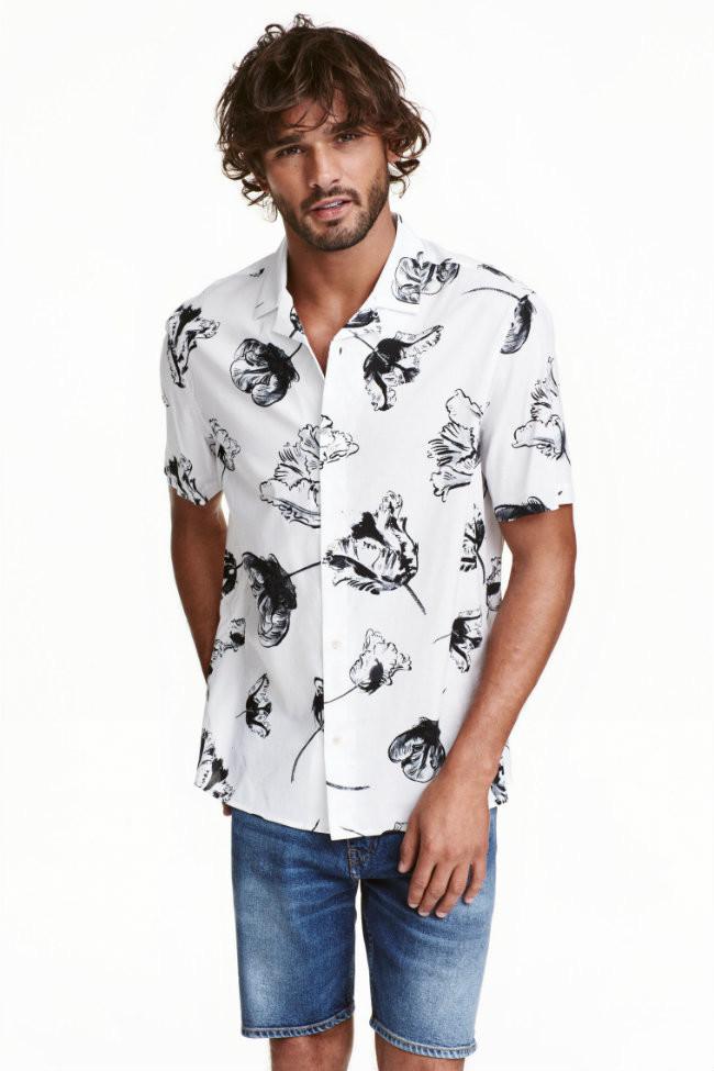 Camisas estampadas con bermudas