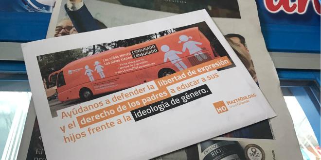 StopLGBTfobia denuncia la difusión del panfleto del odio de Hazteoír por parte del diario ABC