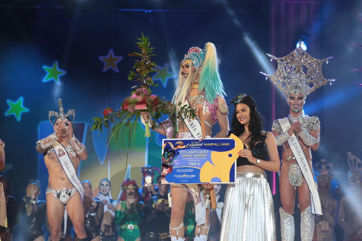 'Drag Gio' se corona Drag Queen del carnaval internacional de Maspalomas