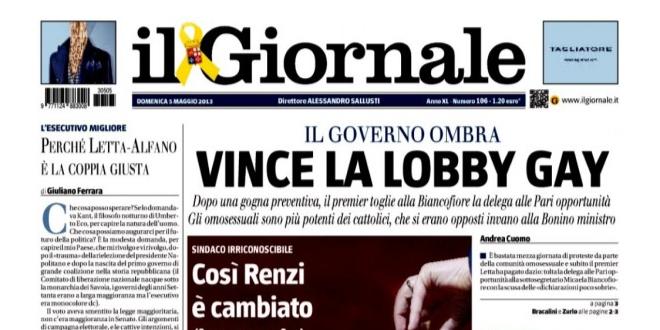 Photo of Un periódico italiano: «los homosexuales son idiotas anormales a los que tenemos el derecho de acosar»