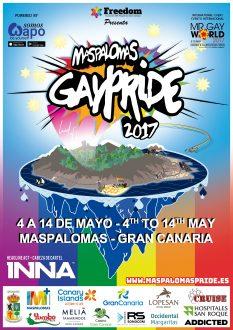 MASPALOMAS GAYPRIDE 2017 CARTEL