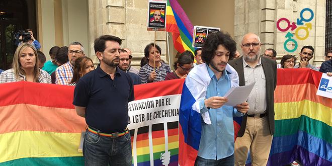 Concentraciones en Andalucía en apoyo a la comunidad LGTB de Chechenia