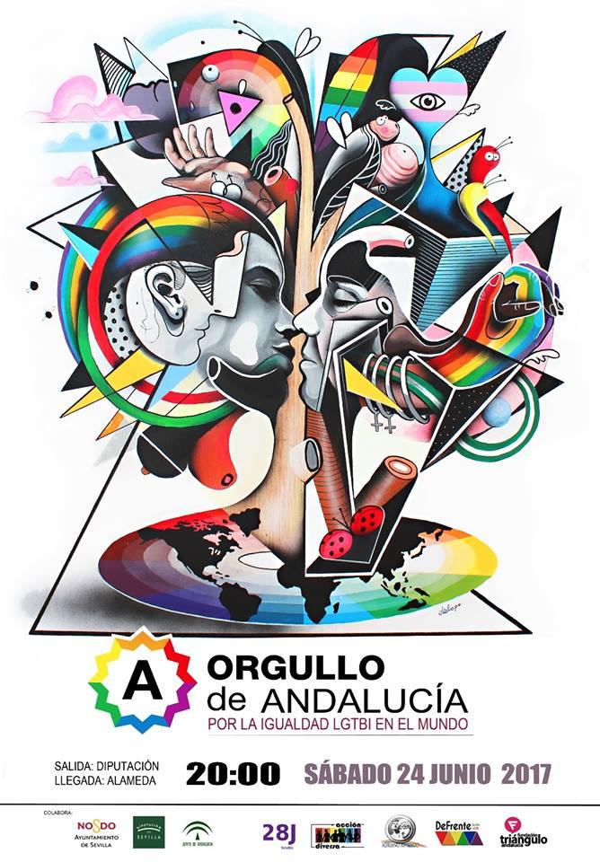 Ya está aquí el Cartel del Orgullo de Andalucía 2017 diseñado por Daniel Galopo