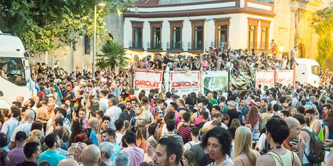 Recorrido de la Manifestación del Orgullo de Sevilla 2017