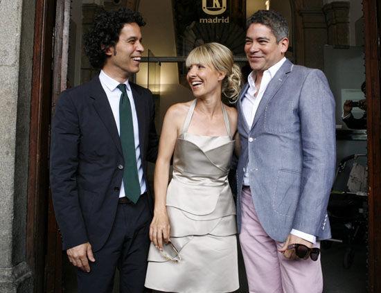 Cayetana Guilén Cuervo, Pedro Zerolo y Boris Izaguirre
