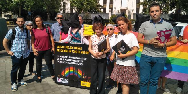 Photo of Activistas de todo el mundo exigen protección para los gays en Chechenia