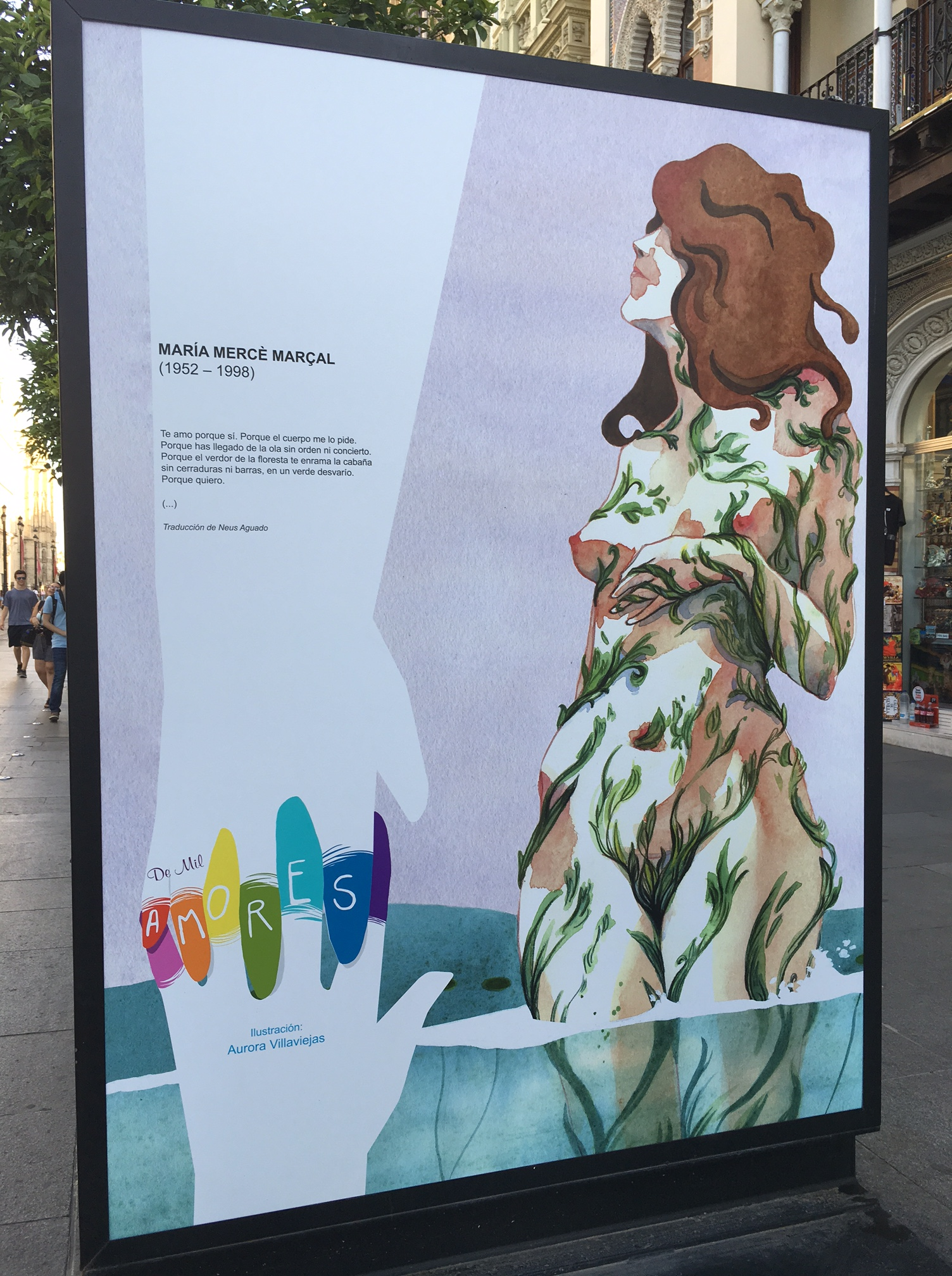 Exposición LGTBI en la Avenida de la Constitución de Sevilla