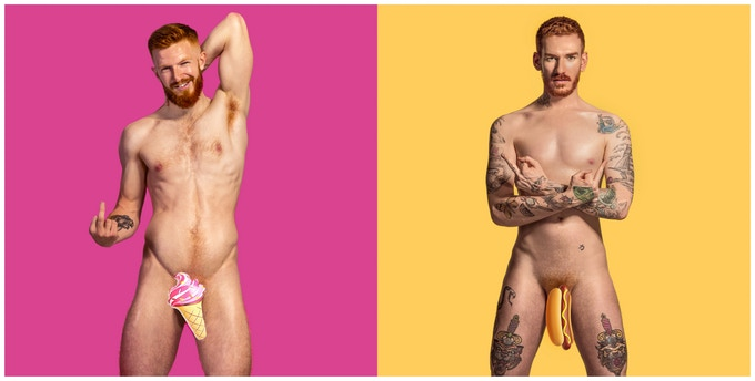 Modelos-pelirrojos-desnudos-por-el-cáncer-de-testículos