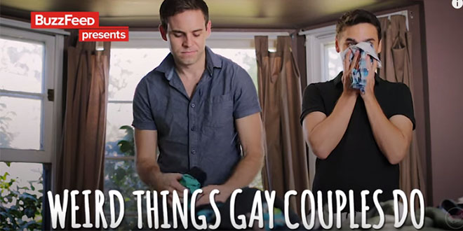 Un nuevo vídeo de Buzzfeed: ´Weird things gay couples do: Public VS Private`