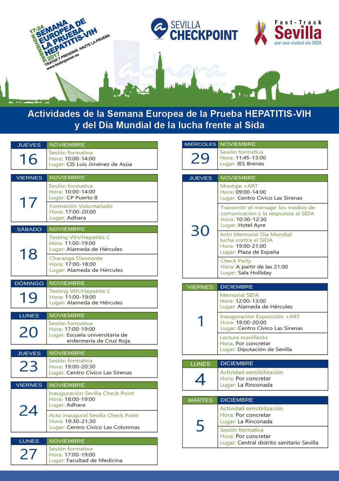 Semana Europea de la prueba hepatitis-VIH 2017