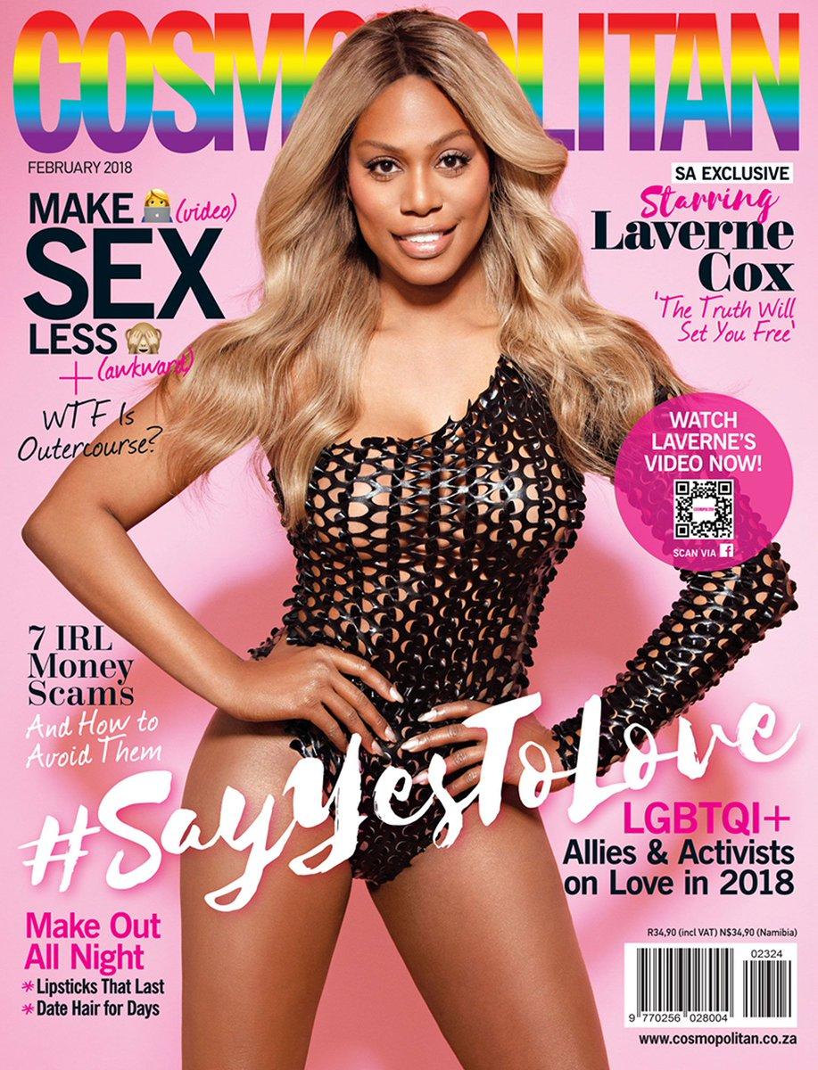 Laverne Cox, primera mujer transexual en ser portada de Cosmopolitan