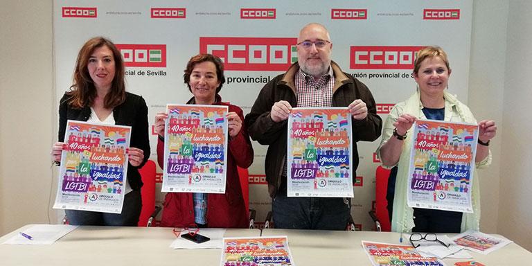 CCOO y UGT Sevilla se unen un año más al Orgullo LGTBI de Andalucía 2018