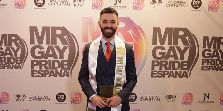 Roberto Alcázar es el nuevo Mr. Gay Pride Madrid 2018