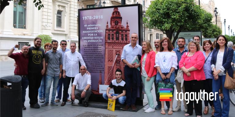 Inaugurada la Exposición 40º Aniversario de la primera manifestación por la Libertad Sexual en Andalucía