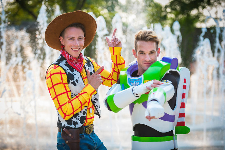 Buzz Lightyear y Woody boda gay