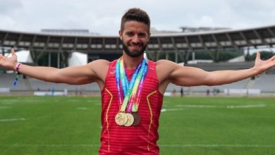 Photo of Miguel García, atleta madrileño ganador de 5 medallas en los Gay Games 2018