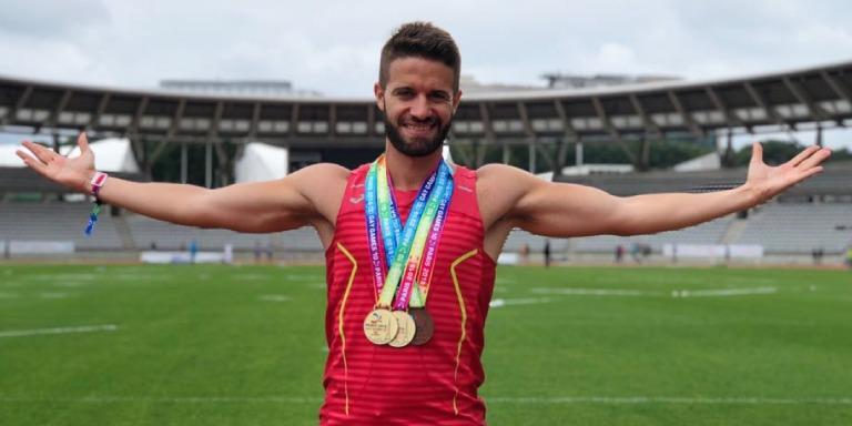Miguel García, atleta madrileño ganador de 5 medallas en los Gay Games 2018