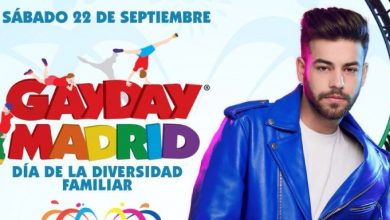 Photo of Agoney actuará en la tercera edición del GayDay Madrid, Día de la Diversidad Familiar