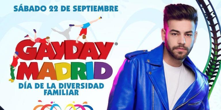 Agoney actuará en la tercera edición del GayDay Madrid, Día de la Diversidad Familiar