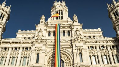 Cibeles Madrid Bandera LGTB