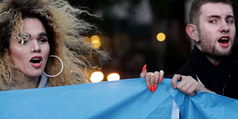 Manifestantes Transexuales en EEUU