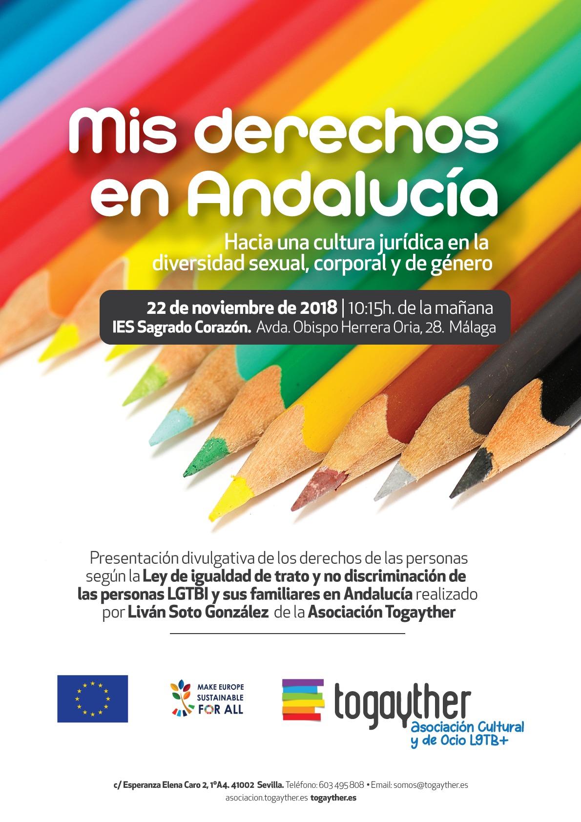 Cartel Mis derechos en Andalucia