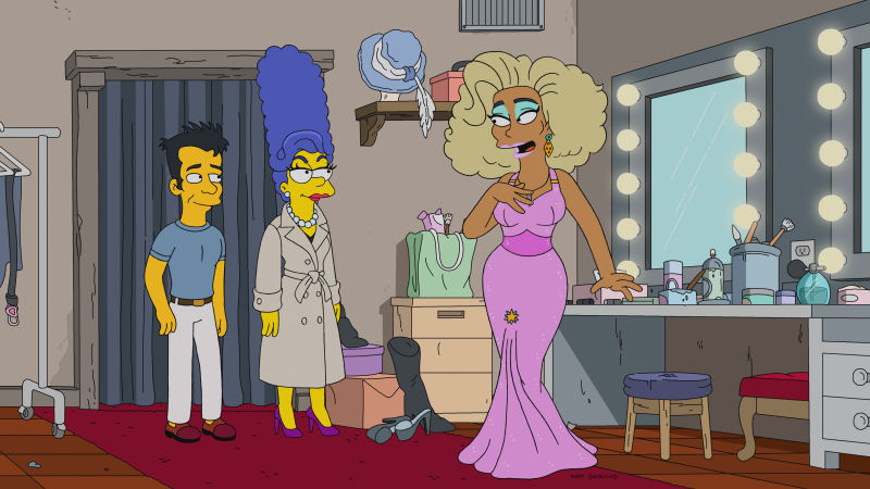 RuPaul Drag Race y Los Simpsons