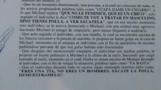 Agresión transfoba en Madrid