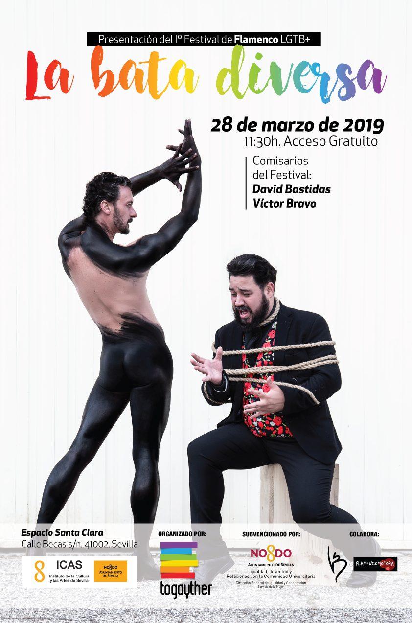 Cartel Presentación Festival de Flamenco LGTBI 'La Bata Diversa'