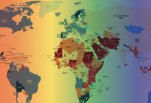 ILGA da a conocer el mapamundi de la homofobia 2019