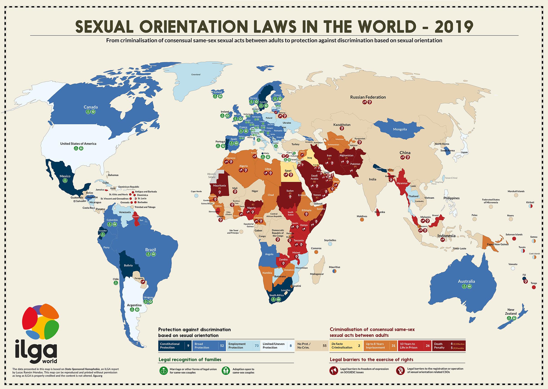 Mapa homofobia ILGA 2019