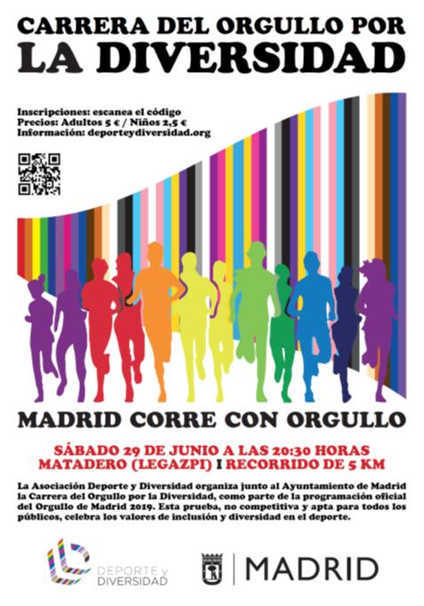 Carrera Orgullo Diversidad 2019 cartel