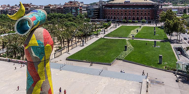 agresión pareja en Parc Joan Miró