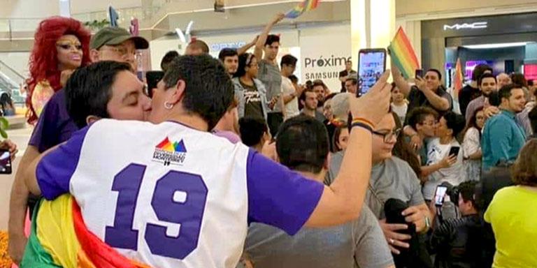 protesta centro comercial beso