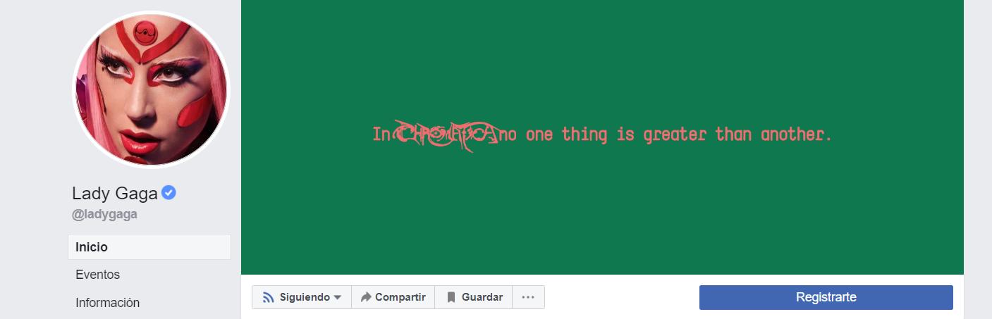 lady gaga facebook