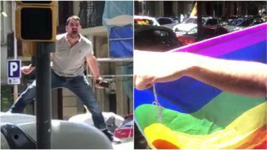 """Photo of """"Baja, marica, baja hijo de puta"""" la agresión homófoba durante la manifestación de Vox en Barcelona"""