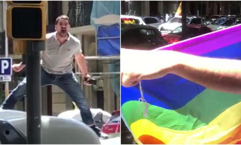 agresión homófoba durante la manifestación de Vox en Barcelona