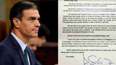 Photo of Pedro Sánchez muestra su apoyo a Diego, el niño que sufrió una agresión homófoba en Murcia