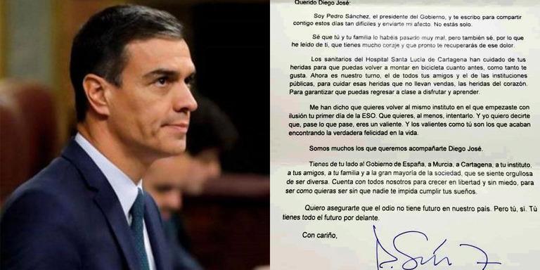 Pedro Sánchez carta