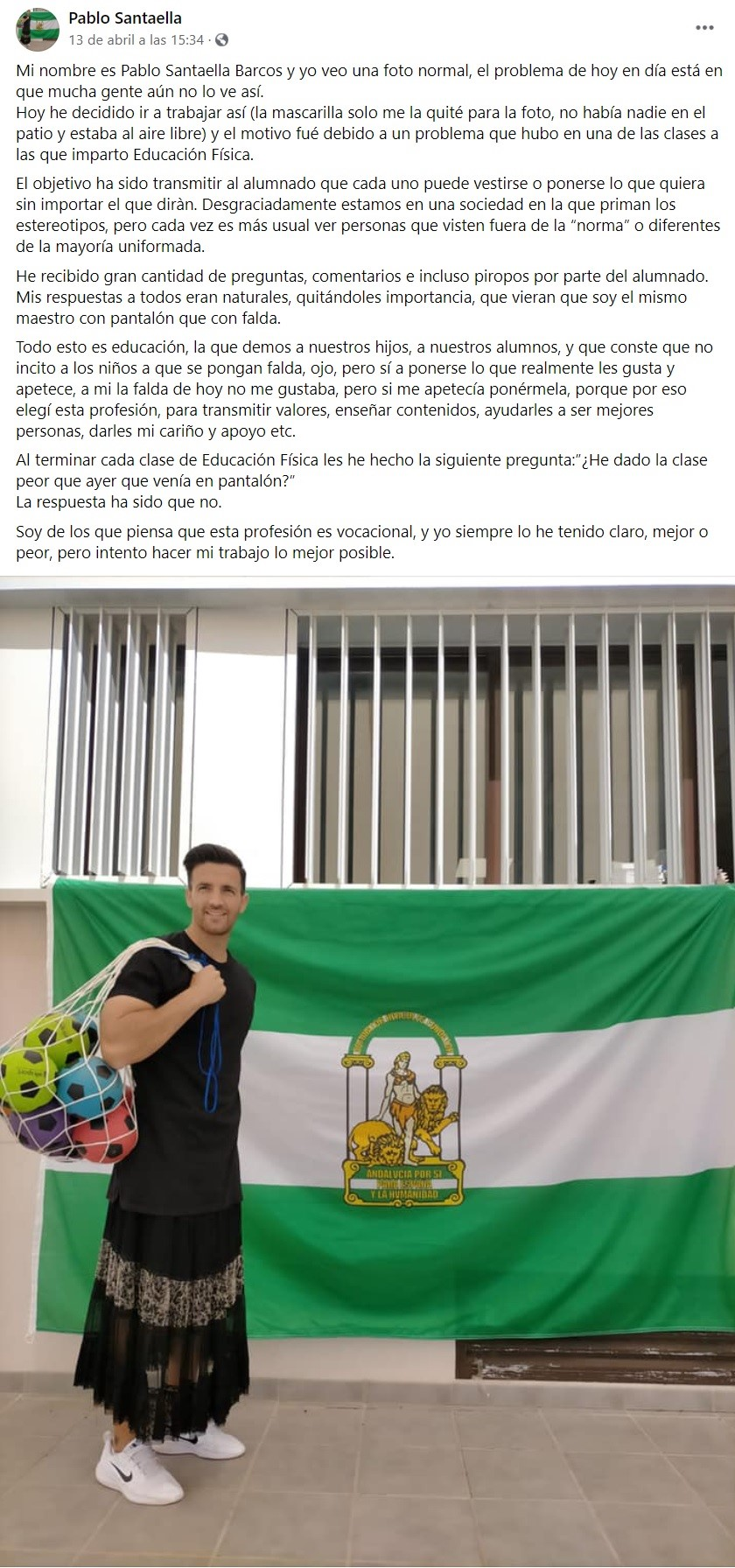 PROFESOR DE INSTITUTO CON FALDA